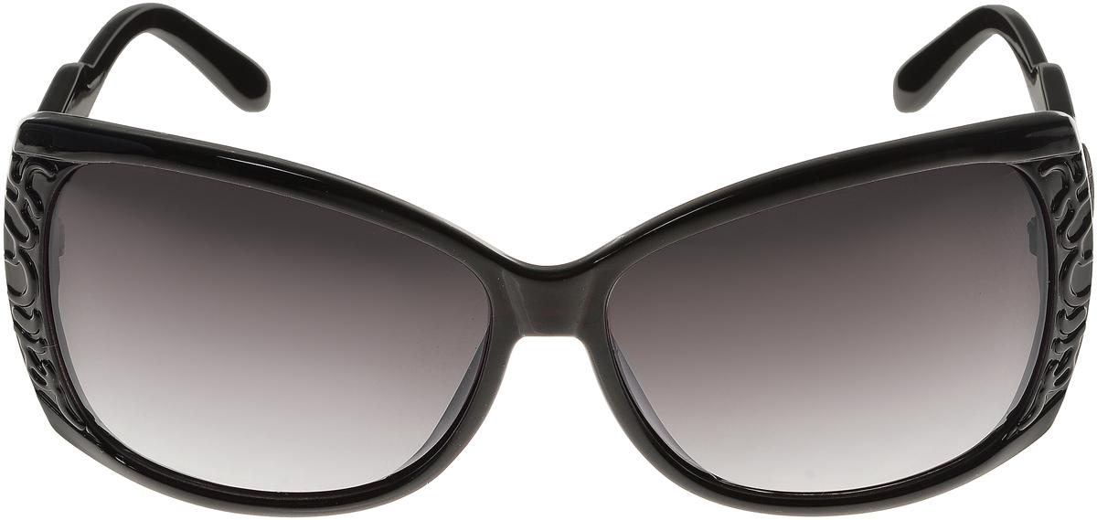 Очки солнцезащитные женские Vittorio Richi, цвет: черный. ОС5023с80-10/17fBM8434-58AEСолнцезащитные очки Vittorio Richi выполнены из высококачественного пластика. Пластик используемый при изготовлении линз не искажает изображение, не подвержен нагреванию и вредному воздействию солнечных лучей. Оправа очков легкая, прилегающей формы и поэтому обеспечивает максимальный комфорт. Такие очки защитят глаза от ультрафиолетовых лучей, подчеркнут вашу индивидуальность и сделают ваш образ завершенным.