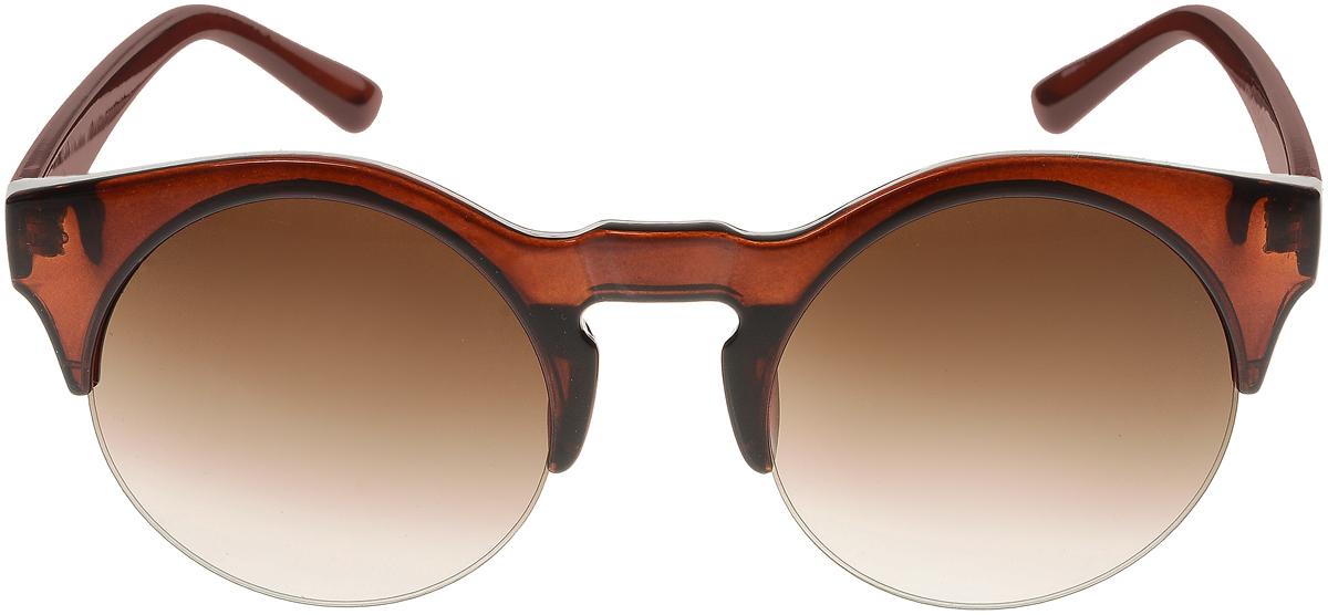 Очки солнцезащитные женские Vittorio Richi, цвет: коричневый. ОС4260с2/17fBM8434-58AEСолнцезащитные очки Vittorio Richi выполнены из высококачественного пластика. Пластик используемый при изготовлении линз не искажает изображение, не подвержен нагреванию и вредному воздействию солнечных лучей. Оправа очков легкая, прилегающей формы и поэтому обеспечивает максимальный комфорт. Такие очки защитят глаза от ультрафиолетовых лучей, подчеркнут вашу индивидуальность и сделают ваш образ завершенным.