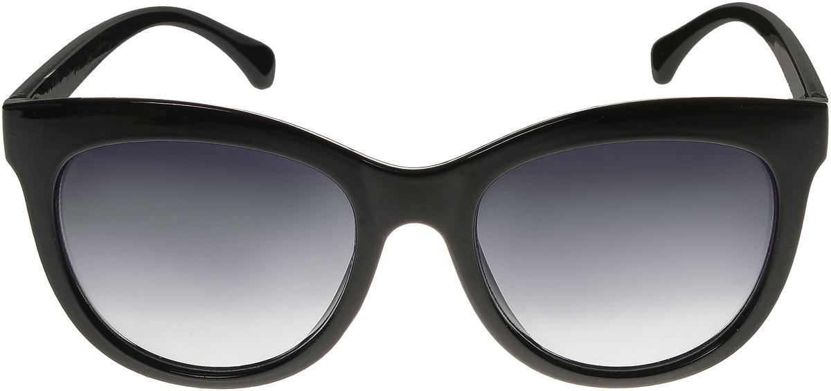 Очки солнцезащитные женские Vittorio Richi, цвет: черный. ОС5108с80-10/17fBM8434-58AEЭлегантные солнцезащитные очки Vittorio Richi выполнены из высококачественного пластика. Пластик используемый при изготовлении линз не искажает изображение, не подвержен нагреванию и вредному воздействию солнечных лучей. Оправа очков легкая, прилегающей формы и поэтому обеспечивает максимальный комфорт. Такие очки защитят глаза от ультрафиолетовых лучей, подчеркнут вашу индивидуальность и сделают ваш образ завершенным.