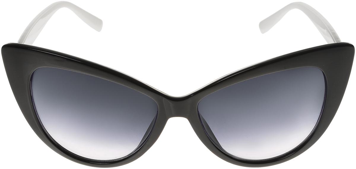 Очки солнцезащитные женские Vittorio Richi, цвет: черный, белый. ОС5015с80-10-8/17fBM8434-58AEСолнцезащитные очки Vittorio Richi выполнены из высококачественного пластика. Пластик используемый при изготовлении линз не искажает изображение, не подвержен нагреванию и вредному воздействию солнечных лучей. Оправа очков легкая, прилегающей формы и поэтому обеспечивает максимальный комфорт. Такие очки защитят глаза от ультрафиолетовых лучей, подчеркнут вашу индивидуальность и сделают ваш образ завершенным.