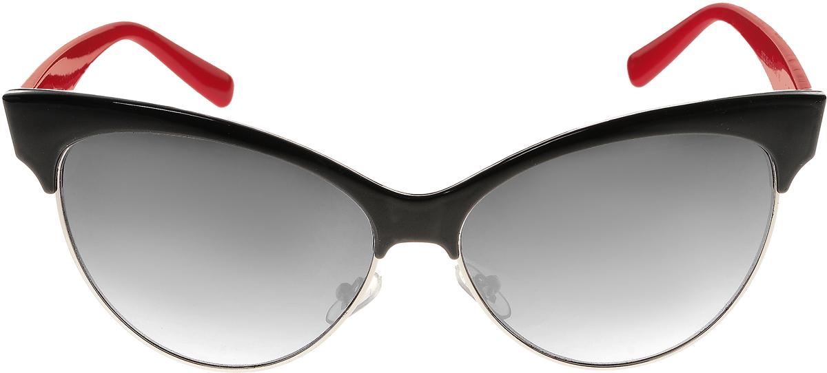 Очки солнцезащитные женские Vittorio Richi, цвет: черный, красный. ОС5022с83-10-2/17f1900671-5605Солнцезащитные очки Vittorio Richi выполнены из высококачественного пластика и металла. Пластик используемый при изготовлении линз не искажает изображение, не подвержен нагреванию и вредному воздействию солнечных лучей. Оправа очков легкая, прилегающей формы и поэтому обеспечивает максимальный комфорт. Такие очки защитят глаза от ультрафиолетовых лучей, подчеркнут вашу индивидуальность и сделают ваш образ завершенным.
