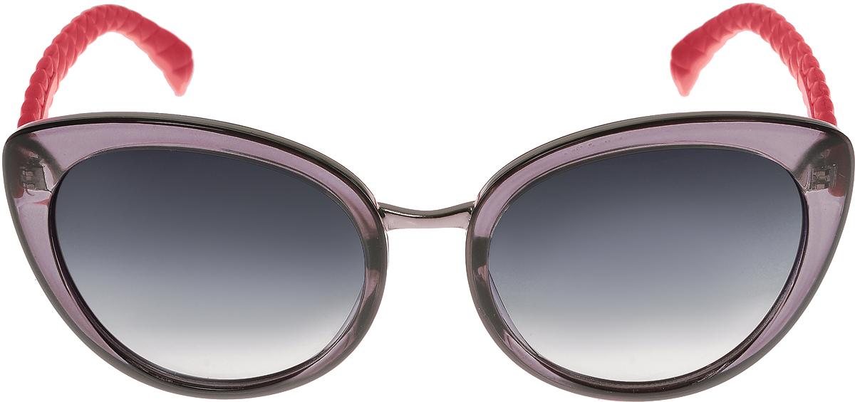 Очки солнцезащитные женские Vittorio Richi, цвет: фиолетовый, красный, черный. OC2035c80-24-2/17fBM8434-58AEЭлегантные солнцезащитные очки Vittorio Richi выполнены из высококачественного пластика и металла. Пластик используемый при изготовлении линз не искажает изображение, не подвержен нагреванию и вредному воздействию солнечных лучей. Оправа очков легкая, прилегающей формы и поэтому обеспечивает максимальный комфорт. Такие очки защитят глаза от ультрафиолетовых лучей, подчеркнут вашу индивидуальность и сделают ваш образ завершенным.