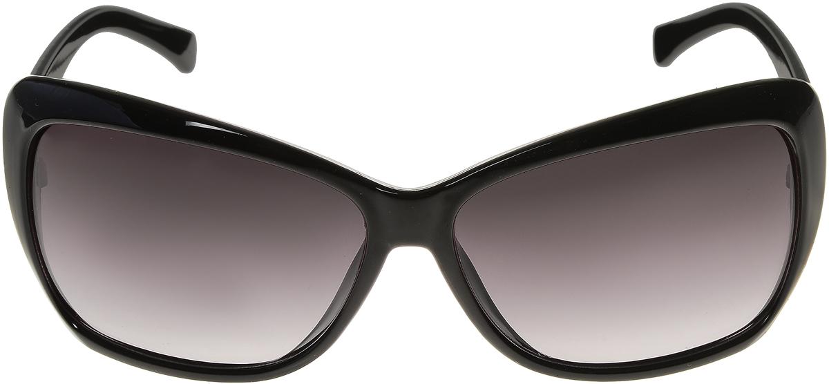 Очки солнцезащитные женские Vittorio Richi, цвет: черный. ОС5012с80-10/17fBM8434-58AEСолнцезащитные очки Vittorio Richi выполнены из высококачественного пластика. Пластик используемый при изготовлении линз не искажает изображение, не подвержен нагреванию и вредному воздействию солнечных лучей. Оправа очков легкая, прилегающей формы и поэтому обеспечивает максимальный комфорт. Такие очки защитят глаза от ультрафиолетовых лучей, подчеркнут вашу индивидуальность и сделают ваш образ завершенным.