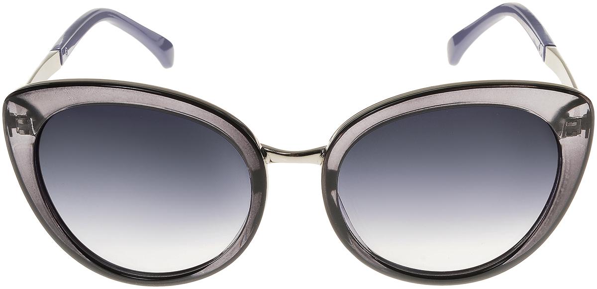 Очки солнцезащитные женские Vittorio Richi, цвет: черный, серо-синий. OC8006c80-24/17fINT-06501Элегантные солнцезащитные очки Vittorio Richi выполнены из высококачественного пластика и металла. Пластик используемый при изготовлении линз не искажает изображение, не подвержен нагреванию и вредному воздействию солнечных лучей. Оправа очков легкая, прилегающей формы и поэтому обеспечивает максимальный комфорт. Такие очки защитят глаза от ультрафиолетовых лучей, подчеркнут вашу индивидуальность и сделают ваш образ завершенным.