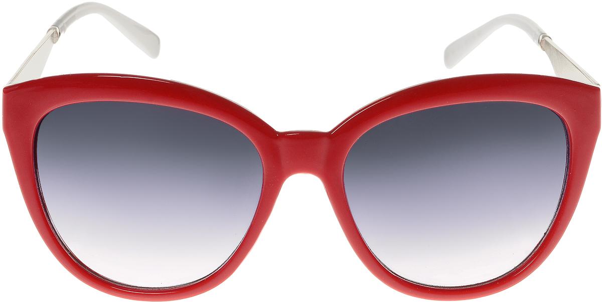 Очки солнцезащитные женские Vittorio Richi, цвет: красный, белый. OC8021c80-10-3/17fINT-06501Солнцезащитные очки Vittorio Richi выполнены из высококачественного пластика и металла. Пластик используемый при изготовлении линз не искажает изображение, не подвержен нагреванию и вредному воздействию солнечных лучей. Оправа очков легкая, прилегающей формы и поэтому обеспечивает максимальный комфорт. Такие очки защитят глаза от ультрафиолетовых лучей, подчеркнут вашу индивидуальность и сделают ваш образ завершенным.