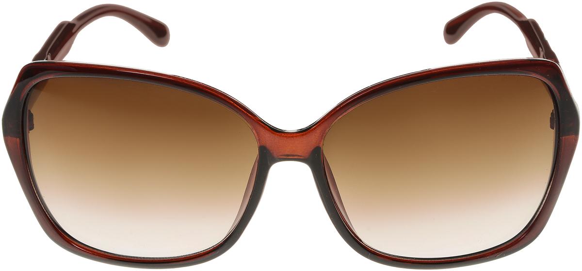 Очки солнцезащитные женские Vittorio Richi, цвет: коричневый. ОС5017с81-11/17fBM8434-58AEЭлегантные солнцезащитные очки Vittorio Richi выполнены из высококачественного пластика. Пластик используемый при изготовлении линз не искажает изображение, не подвержен нагреванию и вредному воздействию солнечных лучей. Оправа очков легкая, прилегающей формы и поэтому обеспечивает максимальный комфорт.Такие очки защитят глаза от ультрафиолетовых лучей, подчеркнут вашу индивидуальность и сделают ваш образ завершенным.