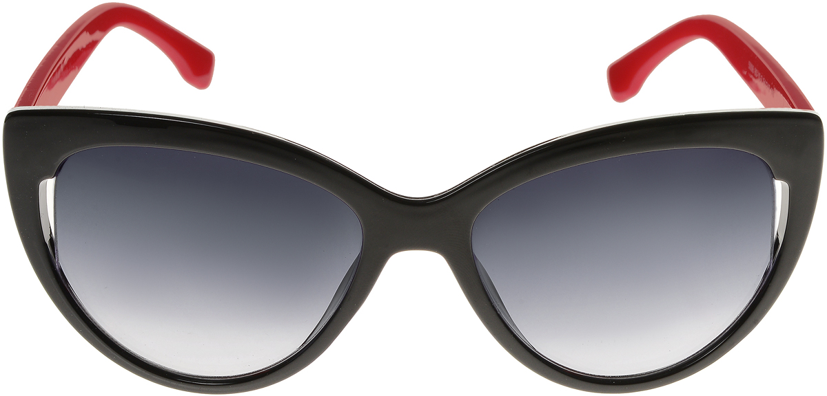 Очки солнцезащитные женские Vittorio Richi, цвет: черный, красный. ОС5006с80-10-2/17fINT-06501Элегантные солнцезащитные очки Vittorio Richi выполнены из высококачественного пластика. Пластик используемый при изготовлении линз не искажает изображение, не подвержен нагреванию и вредному воздействию солнечных лучей. Оправа очков легкая, прилегающей формы и поэтому обеспечивает максимальный комфорт. Такие очки защитят глаза от ультрафиолетовых лучей, подчеркнут вашу индивидуальность и сделают ваш образ завершенным.
