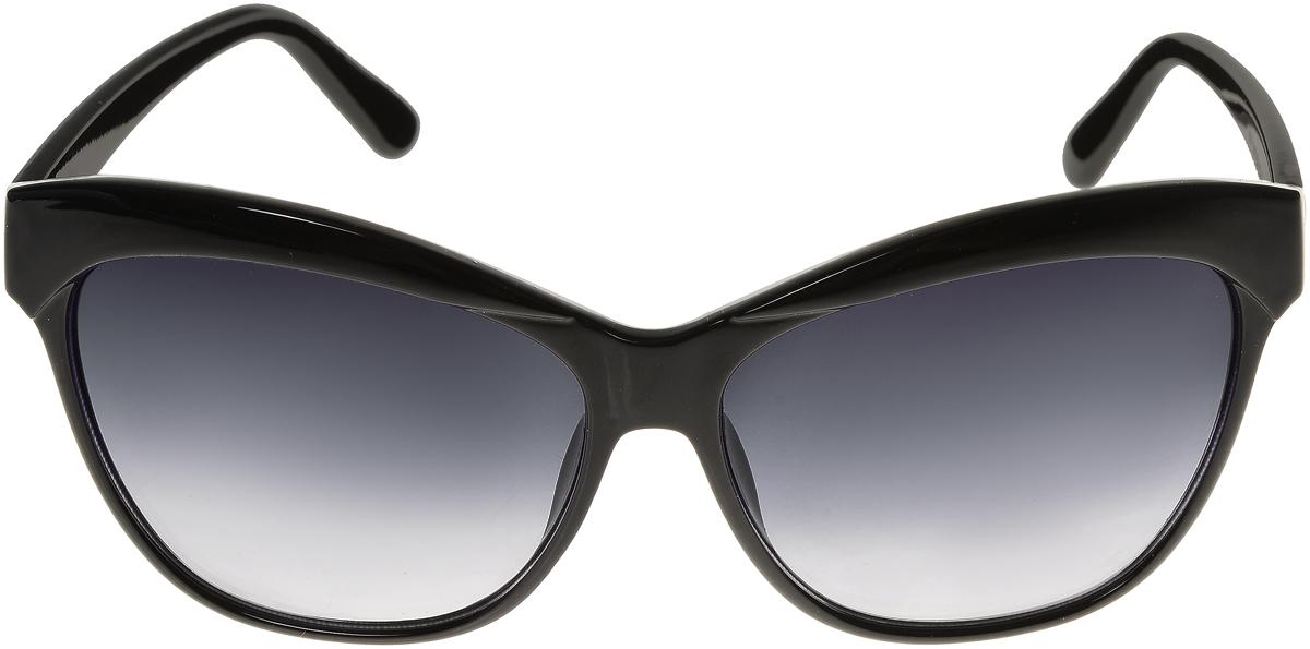 Очки солнцезащитные женские Vittorio Richi, цвет: черный. ОС1632с1/17fBM8434-58AEЭлегантные солнцезащитные очки Vittorio Richi выполнены из высококачественного пластика. Пластик используемый при изготовлении линз не искажает изображение, не подвержен нагреванию и вредному воздействию солнечных лучей. Оправа очков легкая, прилегающей формы и поэтому обеспечивает максимальный комфорт. Такие очки защитят глаза от ультрафиолетовых лучей, подчеркнут вашу индивидуальность и сделают ваш образ завершенным.