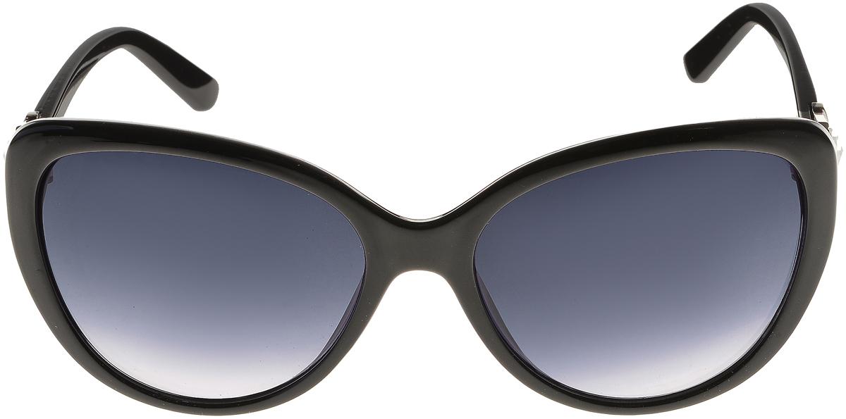 Очки солнцезащитные женские Vittorio Richi, цвет: черный. ОС2062с80-10/17fINT-06501Солнцезащитные очки Vittorio Richi выполнены из высококачественного пластика и металла, декорированы стразами. Пластик используемый при изготовлении линз не искажает изображение, не подвержен нагреванию и вредному воздействию солнечных лучей. Оправа очков легкая, прилегающей формы и поэтому обеспечивает максимальный комфорт. Такие очки защитят глаза от ультрафиолетовых лучей, подчеркнут вашу индивидуальность и сделают ваш образ завершенным.