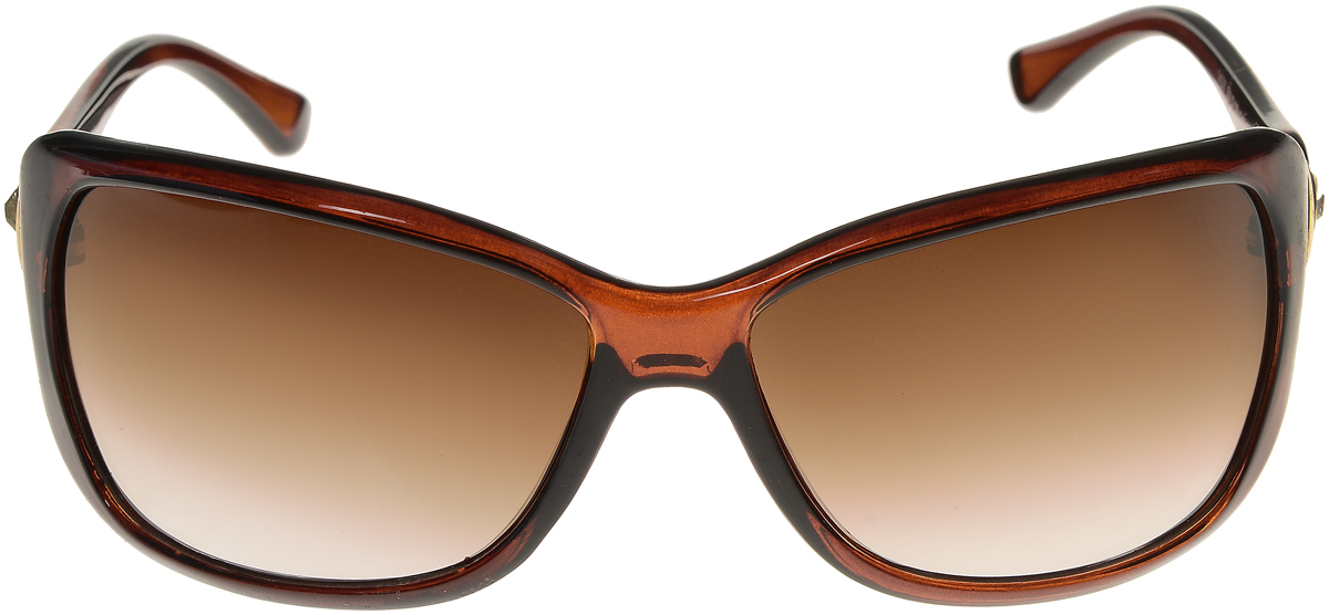 Очки солнцезащитные женские Vittorio Richi, цвет: коричневый. ОС1437с4/17fBM8434-58AEЭлегантные солнцезащитные очки Vittorio Richi выполнены из высококачественного пластика и металла, декорированы стразами. Пластик используемый при изготовлении линз не искажает изображение, не подвержен нагреванию и вредному воздействию солнечных лучей. Оправа очков легкая, прилегающей формы и поэтому обеспечивает максимальный комфорт. Такие очки защитят глаза от ультрафиолетовых лучей, подчеркнут вашу индивидуальность и сделают ваш образ завершенным.