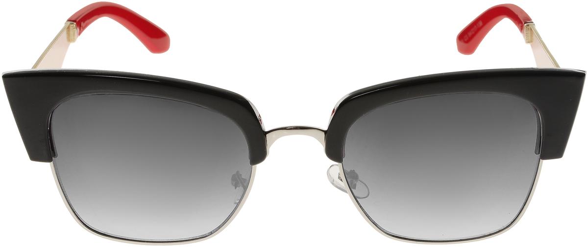 Очки солнцезащитные женские Vittorio Richi, цвет: черный, красный. OC1901c3/17fBM8434-58AEЭлегантные солнцезащитные очки Vittorio Richi выполнены из высококачественного пластика и металла. Пластик используемый при изготовлении линз не искажает изображение, не подвержен нагреванию и вредному воздействию солнечных лучей. Оправа очков легкая, прилегающей формы и поэтому обеспечивает максимальный комфорт. Такие очки защитят глаза от ультрафиолетовых лучей, подчеркнут вашу индивидуальность и сделают ваш образ завершенным.