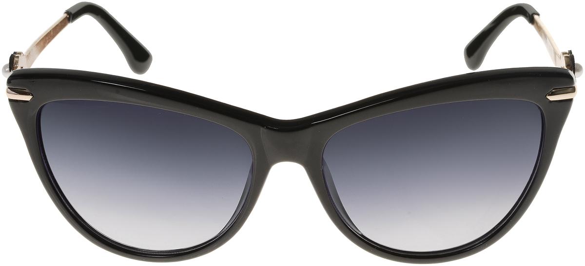 Очки солнцезащитные женские Vittorio Richi, цвет: черный. ОС1636с1/17fINT-06501Элегантные солнцезащитные очки Vittorio Richi выполнены из высококачественного пластика и металла. Пластик используемый при изготовлении линз не искажает изображение, не подвержен нагреванию и вредному воздействию солнечных лучей. Оправа очков легкая, прилегающей формы и поэтому обеспечивает максимальный комфорт. Такие очки защитят глаза от ультрафиолетовых лучей, подчеркнут вашу индивидуальность и сделают ваш образ завершенным.