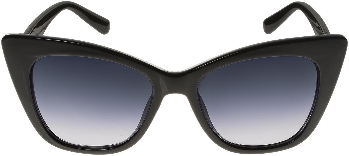 Очки солнцезащитные женские Vittorio Richi, цвет: черный. ОС5014с80-10/17fBM8434-58AEЭлегантные солнцезащитные очки Vittorio Richi выполнены из высококачественного пластика. Пластик используемый при изготовлении линз не искажает изображение, не подвержен нагреванию и вредному воздействию солнечных лучей. Оправа очков легкая, прилегающей формы и поэтому обеспечивает максимальный комфорт.Такие очки защитят глаза от ультрафиолетовых лучей, подчеркнут вашу индивидуальность и сделают ваш образ завершенным.