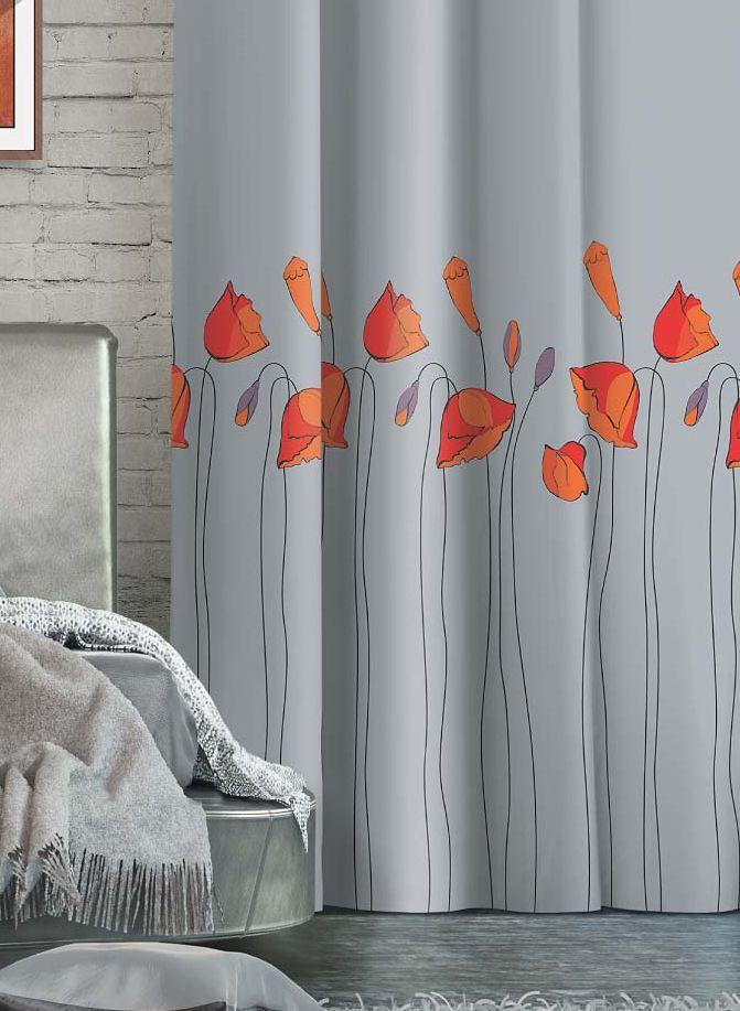 Штора Волшебная ночь Floral, на ленте, цвет: светло-серый, красный, высота 270 см106-026Шторы коллекции Волшебная ночь - это готовое решение для интерьера, гарантирующее красоту, удобство и индивидуальный стиль!Штора изготовлена из приятной на ощупь ткани габардин, которая плотно драпирует окно, но позволяет свету частично проникать внутрь. Длина шторы регулируется с помощью клеевой паутинки (в комплекте). Изделие крепится на вшитую шторную ленту: на крючки или путем продевания на карниз.