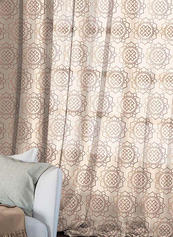 Комплект штор Волшебная ночь Gilt, на ленте, высота 270 см, 2 штGC013/00Шторы коллекции Волшебная ночь - это готовое решение для Вашего интерьера, гарантирующее красоту, удобство и индивидуальный стиль! Шторы изготовлены из тонкой и легкой ткани ВУАЛЬ, которая почти не препятствует прохождению света, но защищает комнату от посторонних взглядов. Длина штор регулируется с помощью клеевой паутинки (в комплекте). Изделия крепятся на вшитую шторную ленту: на крючки или путем продевания на карниз. Дизайнеры Марки предлагают уже сформированные комплекты штор из различных тканей и рисунков для создания идеальной композиции на окне. Для удобства выбора дизайны штор распределены в стилевые коллекции: ЭТНО, ВЕРСАЛЬ, ЛОФТ, ПРОВАНС. В коллекции Волшебная ночь к данной шторе Вы также сможете подобрать шторы из других тканей: БЛЭКАУТ (100% затемненение), сатен и ГАБАРДИН (частичное затемнение), которые будут прекрасно сочетаться по дизайну и обеспечат особый уют Вашему дому.