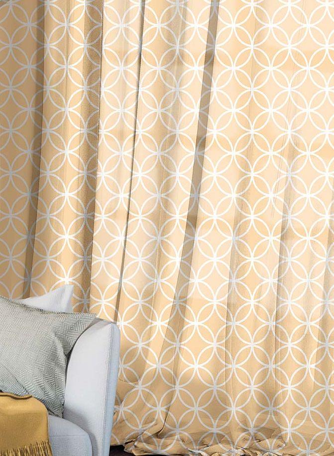Комплект штор Волшебная ночь Chocolate Mandarin, на ленте, цвет: светло-коричневый, высота 270 см956251325Шторы коллекции Волшебная ночь - это готовое решение для интерьера, гарантирующее красоту, удобство и индивидуальный стиль.Шторы изготовлены из ткани вуаль, которая почти не мешает прохождению света, но защищает комнату от посторонних взглядов.Длина штор регулируется с помощью клеевой паутинки (в комплекте). Изделия крепятся на вшитую шторную ленту: на крючки или путем продевания на карниз.Высота: 270 см.