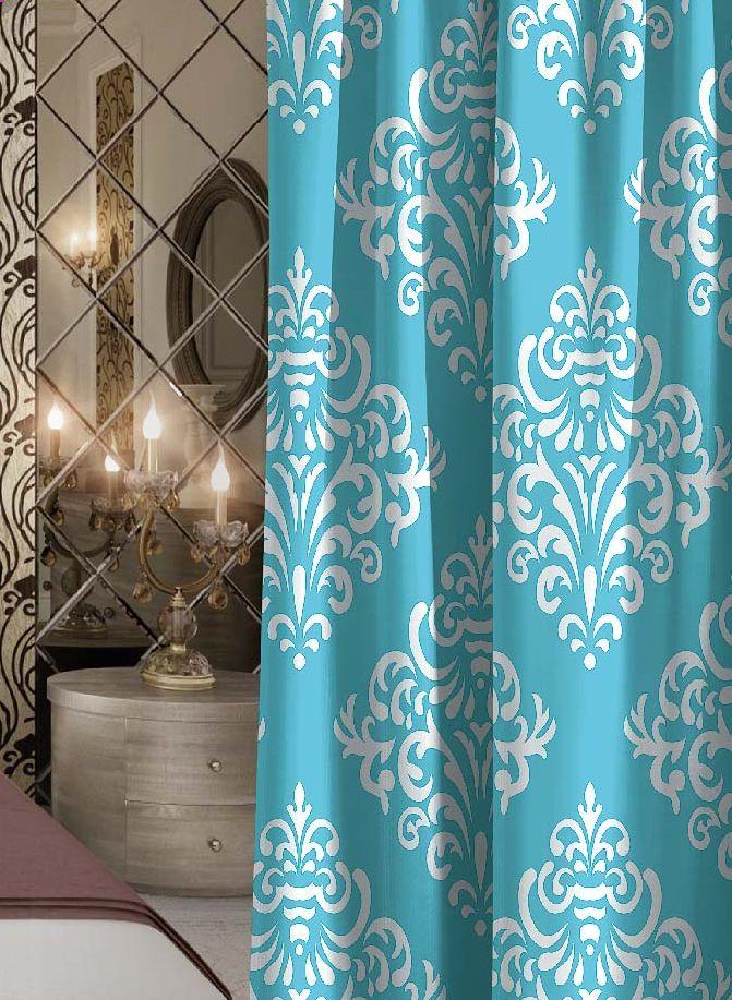Штора Волшебная ночь Finesse, габардин, на ленте, цвет: голубой, белый, высота 270 смVCA-00Шторы коллекции Волшебная ночь - это готовое решение для интерьера, гарантирующее красоту, удобство и индивидуальный стиль! Штора изготовлена из приятной на ощупь ткани габардин, которая плотно драпирует окно, но позволяет свету частично проникать внутрь.Длина шторы регулируется с помощью клеевой паутинки (в комплекте).Изделие крепится на вшитую шторную ленту: на крючки или путем продевания на карниз.