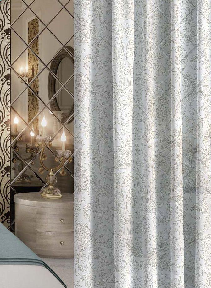 Комплект штор Волшебная ночь Harmonic, на ленте, цвет: серый, белый, высота 270 см106-026Шторы коллекции Волшебная ночь - это готовое решение для интерьера, гарантирующее красоту, удобство и индивидуальный стиль.Шторы изготовлены из ткани вуаль, которая почти не мешает прохождению света, но защищает комнату от посторонних взглядов.Длина штор регулируется с помощью клеевой паутинки (в комплекте). Изделия крепятся на вшитую шторную ленту: на крючки или путем продевания на карниз.Высота: 270 см.