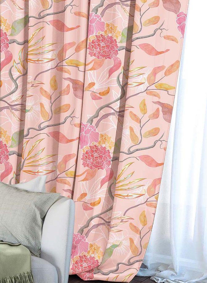 Штора Волшебная ночь Summer Fantasy, на ленте, цвет: розовый, высота 270 см. 704483704483Шторы коллекции Волшебная ночь - это готовое решение для вашего интерьера, гарантирующее красоту, удобство и индивидуальный стиль! Штора изготовлена из мягкой, приятной на ощупь ткани сатен, которая обеспечивает частичное затемнение и легко драпируется. Длина шторы регулируется с помощью клеевой паутинки (в комплекте). Изделие крепится на вшитую шторную ленту: на крючки или путем продевания на карниз. Дизайнеры марки Волшебная ночь предлагают уже сформированные комплекты штор из различных тканей и рисунков для создания идеальной композиции на окне. Для удобства выбора дизайны штор распределены в стилевые коллекции: этно, версаль, лофт, прованс. В коллекции Волшебная ночь к данной шторе вы также сможете подобрать шторы из других тканей: блэкаут (100% затемнение), габардин (частичное затемнение) и вуаль (практически нулевое затемнение), которые будут прекрасно сочетаться по дизайну и обеспечат особый уют вашему дому.