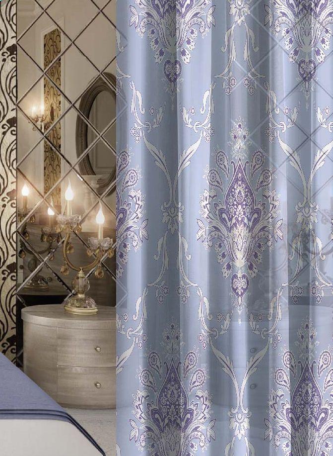 Комплект штор Волшебная ночь Royalty, на ленте, цвет: голубой, высота 270 смGC013/00Шторы коллекции Волшебная ночь - это готовое решение для интерьера, гарантирующее красоту, удобство и индивидуальный стиль.Шторы изготовлены из ткани вуаль, которая почти не мешает прохождению света, но защищает комнату от посторонних взглядов.Длина штор регулируется с помощью клеевой паутинки (в комплекте). Изделия крепятся на вшитую шторную ленту: на крючки или путем продевания на карниз.Высота: 270 см.