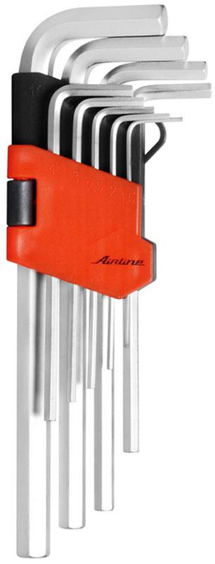 Набор ключей Airline, шестигранных, 9 предметов67360Высокие рабочие характеристикиСтержень ключей изготовлен из хром-ванадиевой стали. В процессе производства подвергается закалке и отпуску. Финишное покрытие – хромирование.Удобство храненияУдобный пластиковый подвес гарантирует порядок на рабочем месте.Состав набора: Набор шестигранных ключей 9 предметов 1.5,2,2.5,3,4,5,6,8,10ммБессрочная гарантия
