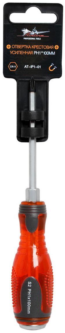 Отвертка крестовая Airline, усиленная под ключ, PH1 х 100 ммAquatak 35-12 PlusОтвертка крестовая Airline предназначена для монтажа/демонтажа резьбовых соединений с применением значительных усилий.Лезвие отвертки изготовлено из хром-ванадиевой стали, жало подвержено индукционной закалке и фосфатировано. Лезвие усиленных отверток шестигранной формы, изготовлено из особо прочной стали S2. Под рукояткой имеется усиление под ключ, а сверху пятак для передачи ударных нагрузок. Сочетание твердых и мягких элементов рукоятки оптимально распределяет усилие, прилагаемое к инструменту, и предотвращает проскальзывание. Размер отвертки: PH1 х 100 мм.
