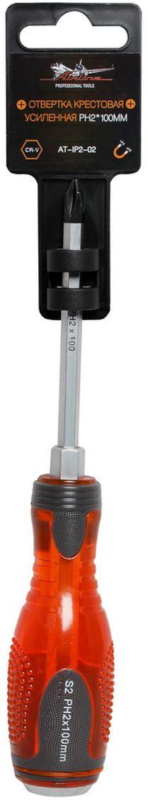 Отвертка крестовая Airline, усиленная под ключ, PH2 х 100 ммAquatak 35-12 PlusОтвертка крестовая Airline предназначена для монтажа/демонтажа резьбовых соединений с применением значительных усилий.Лезвие отвертки изготовлено из хром-ванадиевой стали, жало подвержено индукционной закалке и фосфатировано. Лезвие усиленных отверток шестигранной формы, изготовлено из особо прочной стали S2. Под рукояткой имеется усиление под ключ, а сверху пятак для передачи ударных нагрузок. Сочетание твердых и мягких элементов рукоятки оптимально распределяет усилие, прилагаемое к инструменту, и предотвращает проскальзывание.Размер отвертки: PH2 х 100 мм.