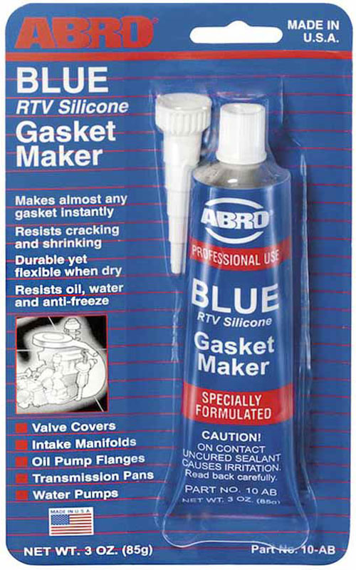 Герметик прокладок Abro, цвет: синий, 85 гPANTERA SPX-2RSМногоцелевые герметики прокладок Blue, Red, Clear, Black предназначены для ремонта или замены почти всех встречающихся в автомобиле прокладок.Герметик ABRO принимает любую форму и успешно выдерживает сжатие, растяжение и сдвиг. Совершенно не разрушается под действием автомобильных масел, воды и антифриза. Также герметик ABRO обладает высокой стойкостью к бензину и тормозной жидкости. Более мягкий герметик прокладок Blue (синий), также как Clear и Black (прозрачный, черный), предназначен для применения при температурах до 260°С, в то время как герметик прокладок Red (красного цвета) разработан для более высоких температур до 343°С.