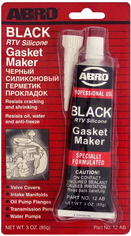 Герметик прокладок Abro, цвет: черный, 85 г790009Многоцелевые герметики прокладок Blue, Red, Clear, Black предназначены для ремонта или замены почти всех встречающихся в автомобиле прокладок.Герметик ABRO принимает любую форму и успешно выдерживает сжатие, растяжение и сдвиг. Совершенно не разрушается под действием автомобильных масел, воды и антифриза. Также герметик ABRO обладает высокой стойкостью к бензину и тормозной жидкости. Более мягкий герметик прокладок Blue (синий), также как Clear и Black (прозрачный, черный), предназначен для применения при температурах до 260°С, в то время как герметик прокладок Red (красного цвета) разработан для более высоких температур до 343°С.
