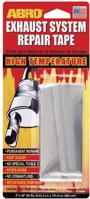 Бандаж глушителя Abro, 5 х 101,6 смER-400— Предназначен для ремонта выхлопной системы, глушителей, расширительных баков.— Предотвращает выделение вредных газов, выходящих из негерметичных выхлопных систем, уменьшает шум и устраняет прорыв выхлопных газов.— Удобен, быстр и чист в применении.— Изготовлен из алюминия с высокотемпературной клеящей основой.— Обладает длительными термостойкими и герметичными свойствами.— Выдерживает температуры до 400°С.— Не содержит асбест.— Не воспламеняется и не растворяется в воде.