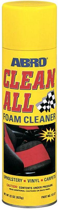 Очиститель-спрей Abro, универсальный, 623 г8047Эффективно очищает моющиеся и окрашенные поверхности.Сильнодействующая активная пена глубоко проникает в структуру ткани и удаляет пятна. Восстанавливает первоначальный внешний вид виниловых, тканевых, ковровых, резиновых, хромированных и никелированных покрытий.В АВТОМОБИЛЕ МОЖЕТ ПРИМЕНЯТЬСЯ ДЛЯ:— тканевой и виниловой обивки;— ковриков;— напольных и хромовых покрытий.Не применяйте для очистки стекол или наружного лакокрасочного покрытия автомобиля. В случае попадания всегда вытирайте сухой тканью до высыхания.В БЫТУ МОЖЕТ ПРИМЕНЯТЬСЯ ДЛЯ:— фарфоровой и керамической плитки;— керамогранитного покрытия;— хромированных ручек;— вентиляторов;— окрашенных стен;— деревянных и металлических поверхностей;— обивки мебели и ковровых покрытий.
