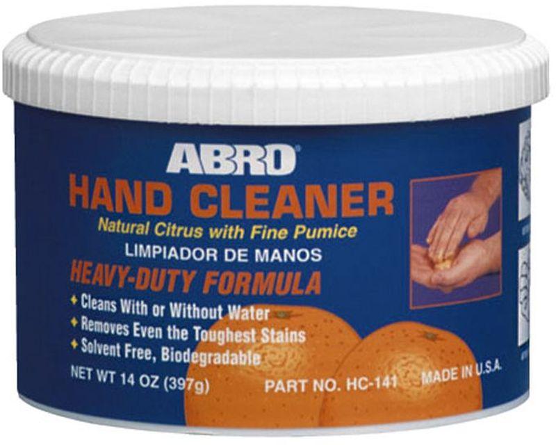 Очиститель для рук Abro, 397 гEL-0702.15Высокоэффективный очиститель для рук на цитрусовой основе с содержанием пемзы. С легкостью очищает жирные пятна, грязь, чернила, краску. Уникальные ухаживающие компоненты смягчают и защищают кожу рук.