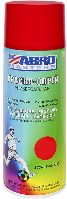 Краска-спрей Abro Masters, цвет: красныйАС-653Краска-спрей применяется для окраски металлических и деревянных поверхностей различных предметов. Используется как для внутренних (домашних), так и наружных работ. После высыхания не токсична.