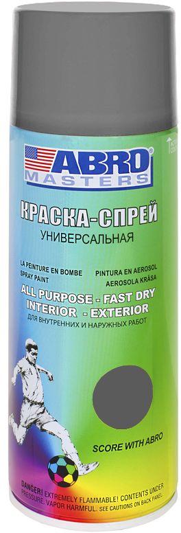 Краска-спрей Abro Masters, цвет: серый96281389Краска-спрей применяется для окраски металлических и деревянных поверхностей различных предметов. Используется как для внутренних (домашних), так и наружных работ. После высыхания не токсична.