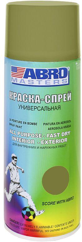 Краска-спрей Abro Masters, цвет: хакиRC-100BWCКраска-спрей применяется для окраски металлических и деревянных поверхностей различных предметов. Используется как для внутренних (домашних), так и наружных работ. После высыхания не токсична.
