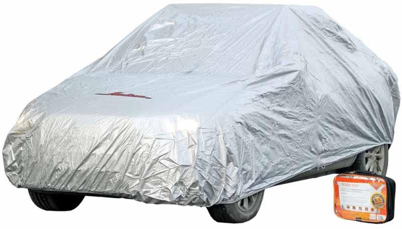 Чехол-тент на автомобиль Airline, защитный, цвет: серый, 495 х 195 х 120 см, размер MAC-FC-02Чехол-тент Airline для транспортного средства выполнен из 100% полиэстера. Чехол поможет сохранить лакокрасочный корпус автомобиля, предохранит его от разнообразных погодных и механических воздействий, а также скроет автомобиль от посторонних взглядов.Чехол размера М универсален и подходит для использования на автомобилях категории D и E.Защитная молния, которая находится на уровне двери автомобиля, обеспечивает доступ к машинному салону.