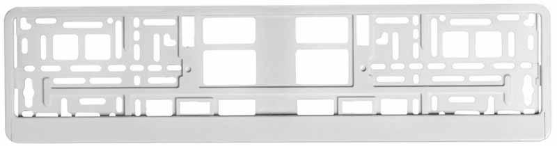 Рамка под номерной знак Airline, цвет: белыйUdd500leРамка Airline выполнена в традиционной прямоугольной форме и предназначена для фиксирования на бампере автомобиля номерного знака. Рамка устанавливается на машину за считанные секунды и прочно фиксируется благодаря механизму крепления, который прошел проверку многоуровневыми стандартами качества. Пластик, из которого изготовлено изделие, не подвержен перепадам температур и отличается высоким порогом прочности. Преимущества: -Морозостойкий материал; -Простая установка; -Российско-европейский размер; -Соответствует требованиям ГИБДД.