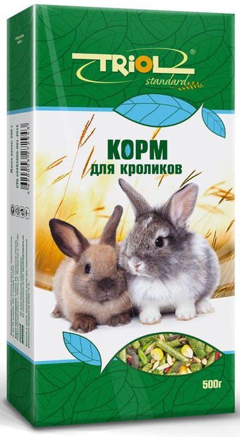 Корм для кроликов Тriol Standard, 500 гКф-00800Комплексный, высококачественный основной корм для кроликов. Эта универсальная смесь натуральных природных компонентов содержит все питательные вещества, витамины и минералы, необходимые для роста и развития вашего питомца. Оптимальная комбинация травяных гранул и семян различных зерновых культур обеспечивают превосходное пищеварение, гигиену полости рта, сияющую шерсть и великолепное здоровье грызунам. Правильно сбалансированный корм поможет вам вырастить здоровых и веселых питомцев. Продукт не содержит искусственных добавок и красителей.Корм для грызунов порадует вашу морскую свинку, хомячка или шиншиллу, крысу или мышку и разнообразит его ежедневный рацион. Корм специально составлен из самых вкусных и необходимых компонентов, он содержит много волокон, что положительно влияет на пищеварение вашего питомца. Корм изготовлен из отборного экологически чистого зерна, для поддержания долгой и здоровой жизни вашего любимца.Состав: просо белое, просо красное, овес, семена подсолнечника, суданка, витамины, ячмень, пшеница, горох, кукуруза, травяные гранулы, попкорн, семена луговых трав.Товар сертифицирован.