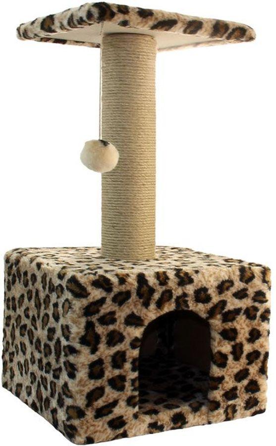 Игровой комплекс Гамма для кошек, квадратный, цвет: бежевый, черный, 35 х 35 х 77 см0120710Игровой комплекс Гамма- универсальный комплекс с домиком и удобной площадкой - это лучший выбор для вашей кошки. Просторный домик (350 х 350 мм) с комфортным входом послужит отличным укрытием, а площадка наверху (300 х 300 мм) - прекрасным местом для отдыха и наблюдения. Джутовый столбик ( 80 х 380 мм) отлично подойдет для заточки коготков, а мягкая игрушка станет дополнительным бонусом.