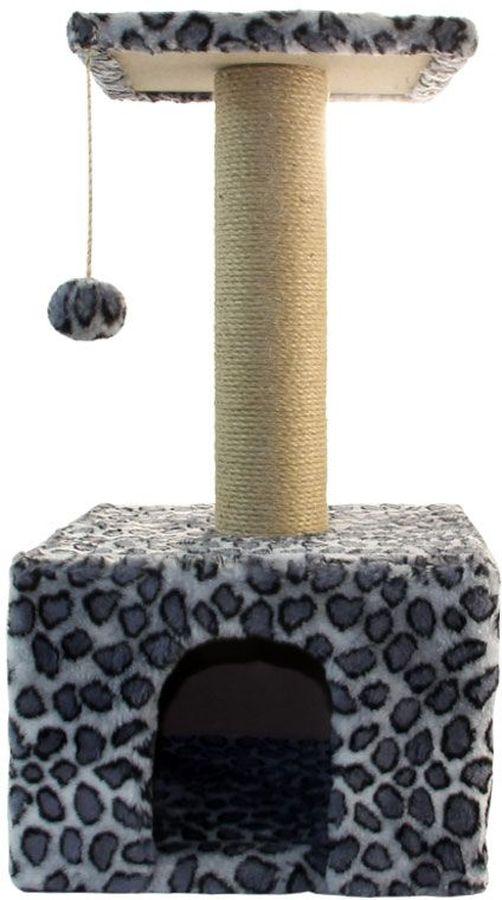 Игровой комплекс Гамма для кошек, квадратный, цвет: серый, черный, 35 х 35 х 77 смД517СКИгровой комплекс Гамма- универсальный комплекс с домиком и удобной площадкой - это лучший выбор для вашей кошки. Просторный домик (35 х 35 см) с комфортным входом послужит отличным укрытием, а площадка наверху (30 х 30 см) - прекрасным местом для отдыха и наблюдения. Джутовый столбик (8 х 38 см) отлично подойдет для заточки коготков, а мягкая игрушка станет дополнительным бонусом.