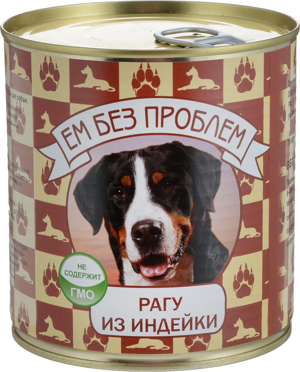 Консервы для собак Ем без проблем ЗооМеню, рагу из индейки, 750 г0120710Мясные консервы для собак Ем без проблем ЗооМеню изготовлены из натурального российского мяса. Не содержат сои, консервантов, красителей, ароматизаторов и генномодифицированных ингредиентов. Корм полностью удовлетворяет ежедневные энергетические потребности животного и обеспечивает оптимальное функционирование пищеварительной системы. Консервы Ем без проблем ЗооМеню рекомендуется смешивать с кашами и овощами.Товар сертифицирован.