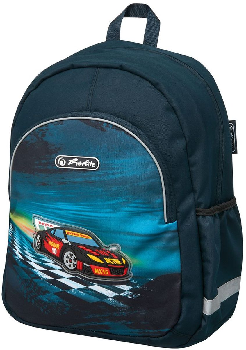 Herlitz Рюкзак школьный Super Racer730396Рюкзак Super Racer- размеры 37 х 26 х 14 см- яркий, привлекательный дизайн- наружный карман на молнии- вентилируемые спинка и лямки