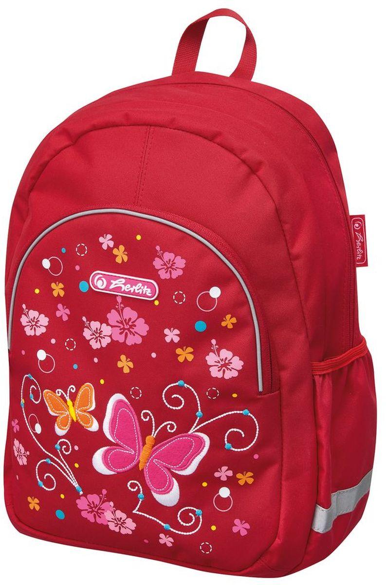 Herlitz Рюкзак школьный Butterfly50008087Рюкзак ButterflyРазмер: 37 х 26 х 14 см- яркий, привлекательный дизайн- наружный карман на молнии- вентилируемые спинка и лямкивес 300 гр
