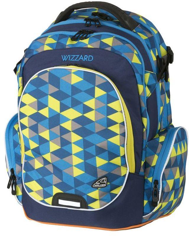 Walker Рюкзак школьный Wizzard Blue730396Рюкзак Wizzard Blue выполнен из прочного износостойкого материала высокого качества с влагоотталкивающей пропиткой и обладает объемом 34 литра.Рюкзак имеет отделение для ноутбука, органайзер. Основной отсек рюкзака разграничен гибкими разделителями. Рюкзак оснащен удобными регулируемыми эргономичными лямками и имеет большой вместительный карман на застежке-молнии спереди. Эргономичная спинка с дышащей накладкой, оснащенной вентилируемыми отверстиями, грудная стяжка и ремешок на поясе обеспечивают удобство при длительной носке.Еще два кармана на застежке-молнии находятся по бокам снаружи. Рюкзак оснащен USB проводом для зарядки гаджетов и свистком. Светоотражающие элементы обезопасят на дороге в темное время суток, а в потайном кармашке на спине рюкзака можно хранить ценные предметы, надежно застегивая кармашек на молнию.