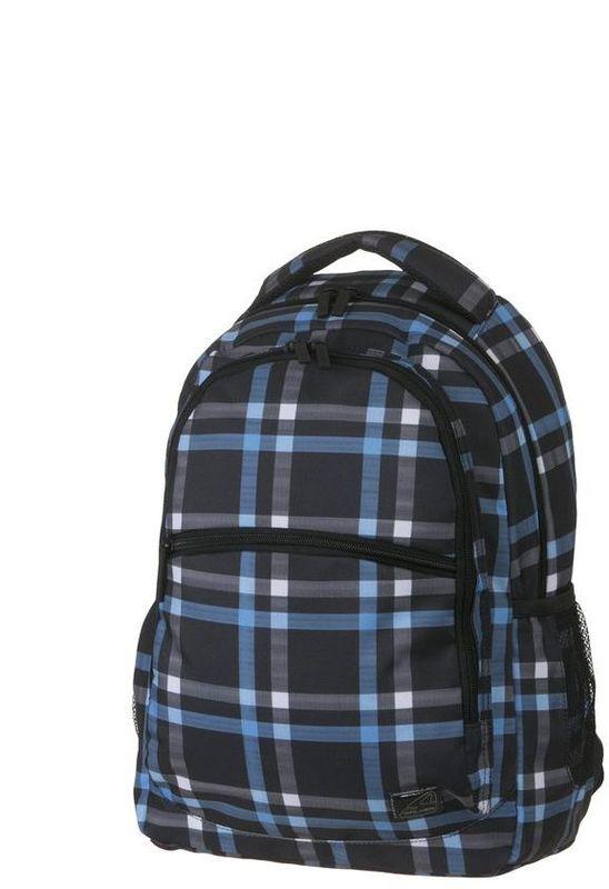 Walker Рюкзак школьный Base Classic Cross Blue42264/171Рюкзак Base Classic Cross Blue выполнен из прочного износостойкого материала высокого качества с влагоотталкивающей пропиткой.Рюкзак имеет отделение для ноутбука, органайзер. Основной отсек рюкзака разграничен гибкими разделителями. Рюкзак оснащен удобными регулируемыми эргономичными лямками и имеет большой вместительный карман на застежке-молнии спереди. Еще два кармана из сетки на резинках находятся по бокам снаружи. Рюкзак имеет два отделения на застежке-молнии.