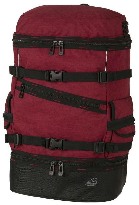 Walker Рюкзак школьный Break Can Red Melange129227Рюкзак Break Can Red Melange выполнен из прочного износостойкого материала высокого качества с влагоотталкивающей пропиткой.Рюкзак имеет верхний клапан на молнии, передний карман так же на застежке-молнии, вместительное основное отделение, эргономические лямки, дополненные грудной стяжкой и карман на молнии на дне рюкзака. По бокам рюкзака располагаются кармашки с эластичной резинкой для фиксации, а на передней части рюкзака находятся два регулируемых ремня.