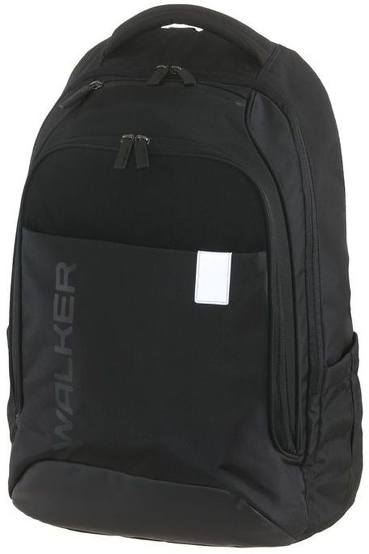 Walker Рюкзак школьный Clerk Decent Black72523WDВместительный школьный рюкзак Clerk Decent Rost имеет объем 32 литра и изготовлен из прочной нейлоновой влагоотталкивающей ткани. Рюкзак оснащен эргономичной спинкой с дышащей накладкой и вентилируемыми отверстиями, грудной стяжкой и уплотненными регулируемыми по высоте лямками из вентилируемого материала c массажным эффектом. Изделие имеет просторное основное отделение с гибким разделителем и отделение для ноутбука. Так же у рюкзака обнаруживается карман-органайзер, вместительный карман на застежке-молнии, кармашек на молнии сверху, боковые кармашки на резиночке. Рюкзак имеет светоотражающие элементы, которые повышают безопасность ребенка, делая его заметнее на дороге в темное время суток.
