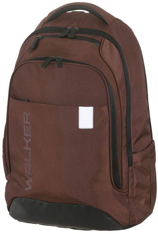 Walker Рюкзак школьный Clerk Decent Rost72523WDВместительный школьный рюкзак Clerk Decent Rost имеет объем 32 литра и изготовлен из прочной нейлоновой влагоотталкивающей ткани. Рюкзак оснащен эргономичной спинкой с дышащей накладкой и вентилируемыми отверстиями, грудной стяжкой и уплотненными регулируемыми по высоте лямками из вентилируемого материала c массажным эффектом. Изделие имеет просторное основное отделение с гибким разделителем и отделение для ноутбука. Так же у рюкзака обнаруживается карман-органайзер, вместительный карман на застежке-молнии, кармашек на молнии на верхнем клапане, боковые кармашки на резиночке. Рюкзак имеет светоотражающие элементы, которые повышают безопасность ребенка, делая его заметнее на дороге в темное время суток.