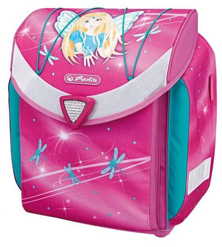 Herlitz Ранец школьный Flexi Plus Fairy с наполнением50007653Ранец Herlitz Flexi Plus Fairy с наполнением: пенал с наполнением (17 предметов),пенал-косметичка, сумка для спортивной формы, контейнер для еды.Размер: 39 х 36 х 22 см.- ткань с водоотталкивающей пропиткой- дно из жесткого пластика- эргономичная вентилируемая спинка- уплотненные регулируемые лямки из вентилируемого материала- съемная грудная стяжка регулируемая по высоте- система регулировки положения ранца на спинке ребенка Ergo System ES2- светоотражатели 3M на крышке, боковых карманах и лямках- автоматически закрывающийся замок Smart Lock- 2 внутренних отделения, карман для учебников- 2 боковых кармана на молнии- передний карман с двумя отделениями и карманом на молнии- расписание уроков, личные данные ученика- эластичная шнуровка на крышке, позволяющая закрепить куртку ребенка на ранце