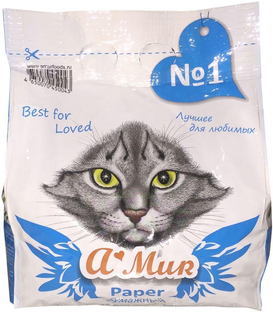 Наполнитель для кошачьего туалета A'MUR, бумажный, 2,5 кг (5 л)